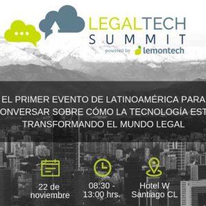 Lemontech organiza el primer Legaltech Summit Santiago 2018
